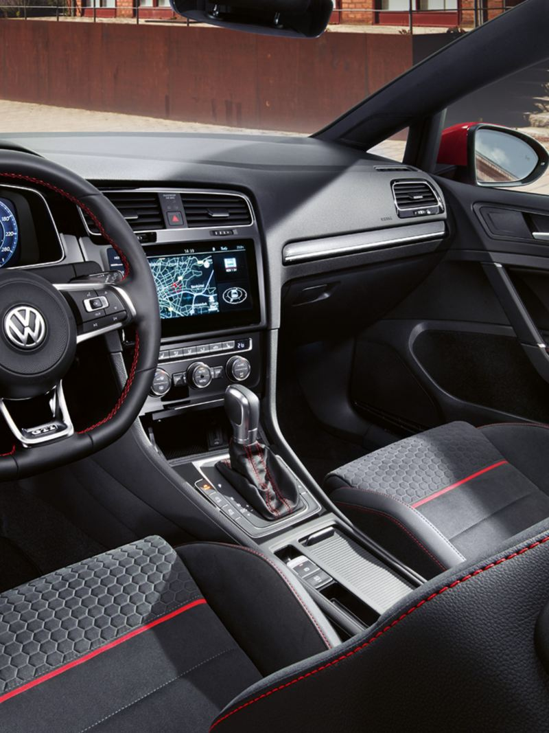 VW Golf GTI Performance view of the interior from the driver's side