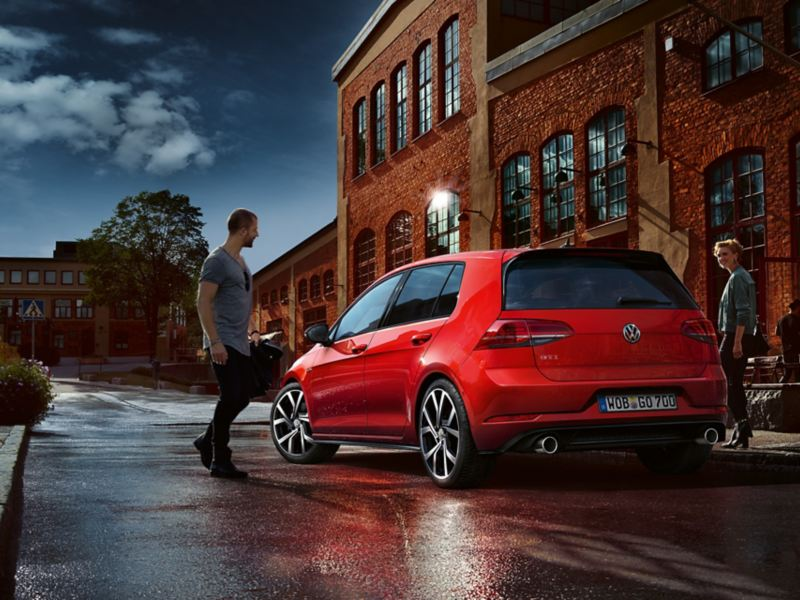 The rear of the Golf GTI Performance