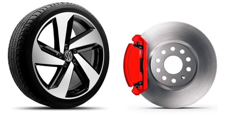 Rines de aluminio de 18'' equipados en el nuevo auto deportivo Golf GTI 2020 de Volkswagen