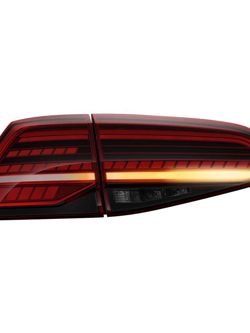 LED tail light cluster on the VW Golf GTI with dynamic turn signal
