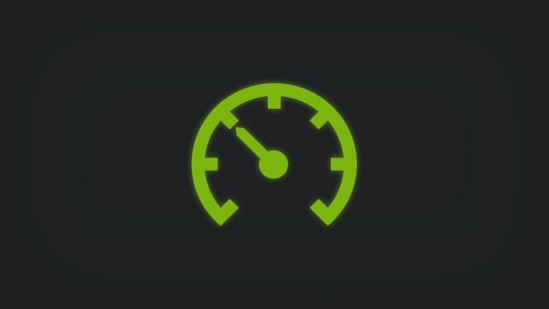 Kontrollleuchte mit Tachometer leuchtet grün