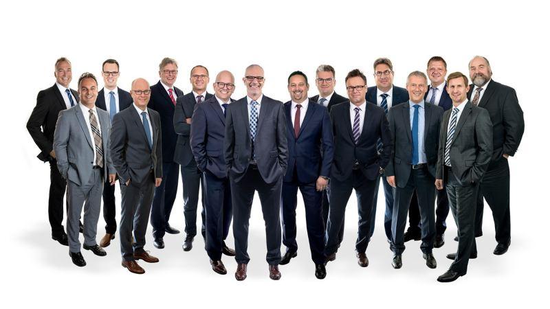 Ein Gruppenbild aller Ansprechpartner für Großkunden.