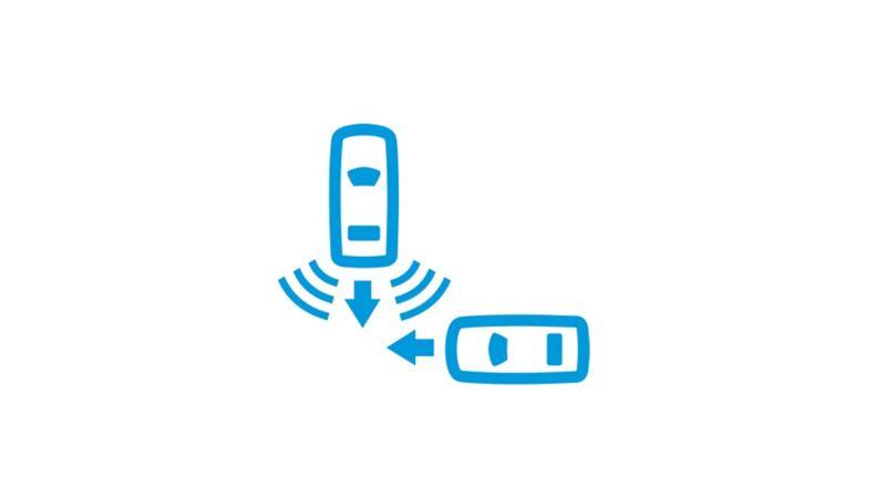 vw volkswagen sikkerhetssystemer førerassistentsystemer assistentsystemer varebil ekstrautstyr standardutstyr Transporter blind spot