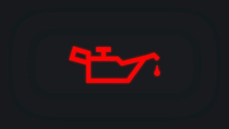 Indicador de aceite en tablero de automóviles Volkswagen