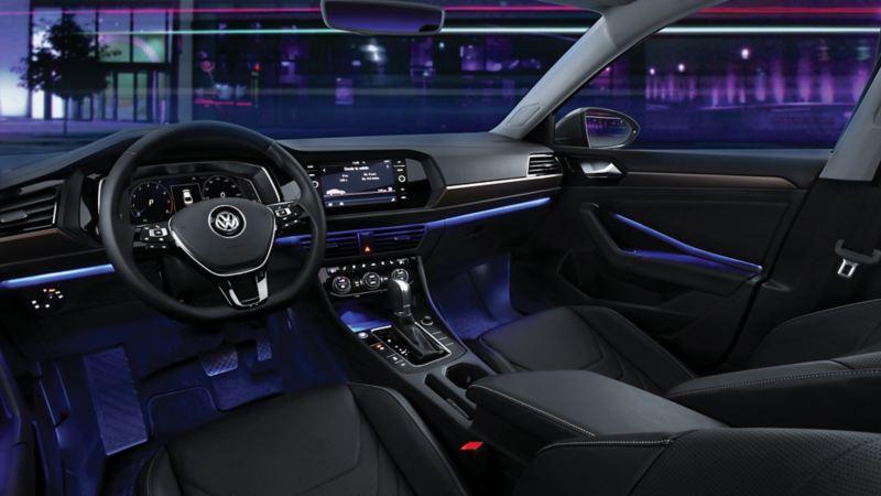 El sistema de luz ambiental de Jetta de Volkswagen Jetta con última tecnología