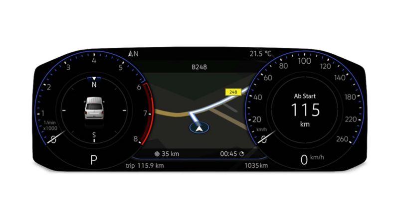 digitaal dashboard Multivan 6.1