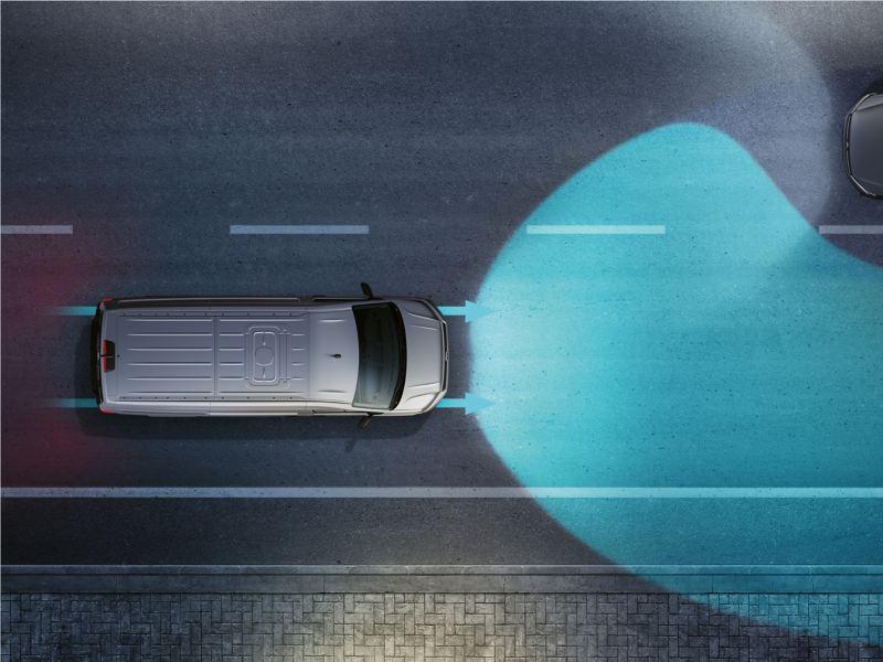 Anschauungsbild für das Fahrerassistenzsystem Light Assist.