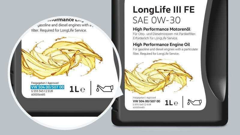 Olej silnikowy Volkswagen LongLife III FE SAE 0W-30.