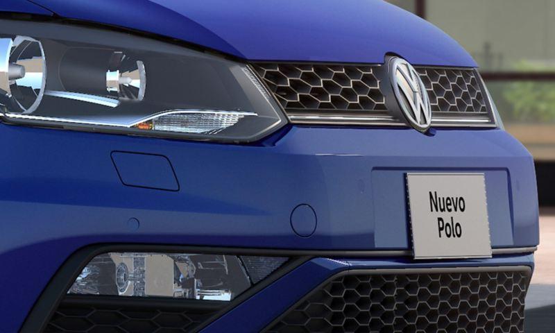 Parrilla cromada con diseño deportivo presente en Nuevo Polo 2020 de Volkswagen México