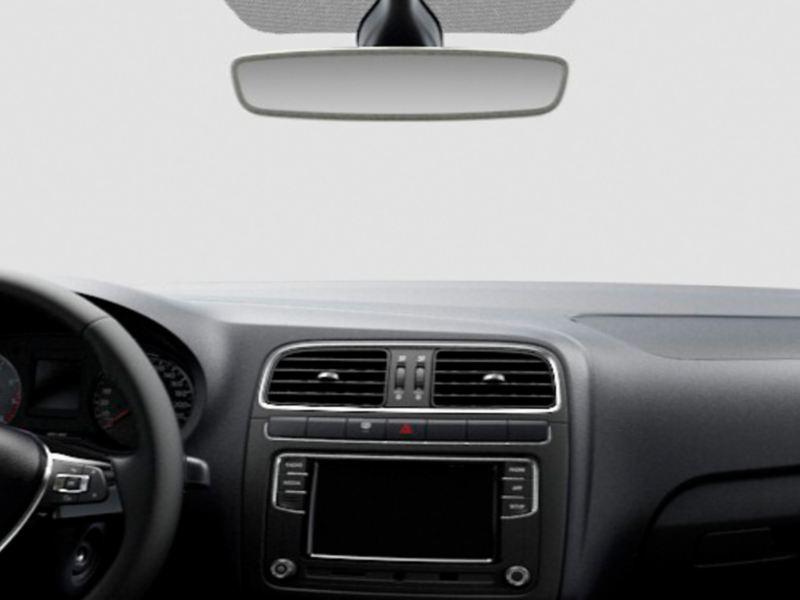 Espejo Interior retrovisor antideslumbrante en la Edición Especial de Polo 2021