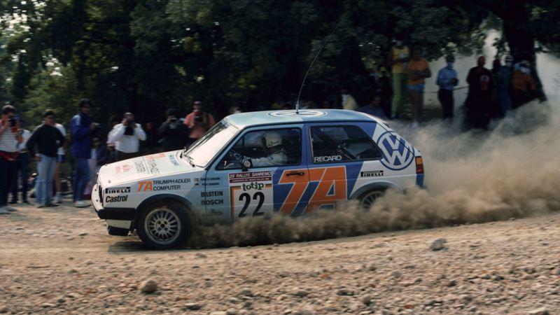 Kenneth Eriksson och golfen på rally i Afrika med Volkswagen.