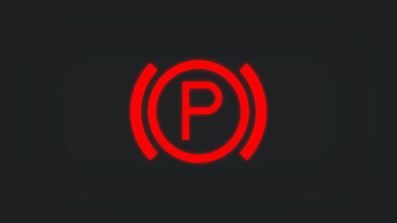 Kontrollleuchte mit P leuchtet rot