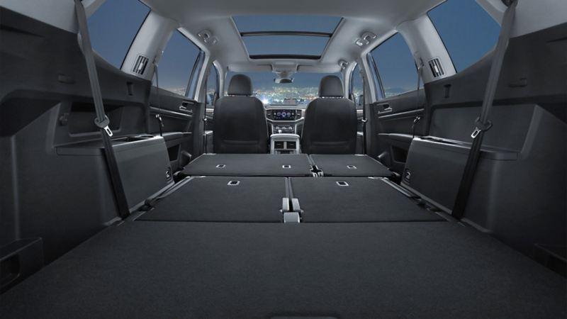 Interior amplio de Camioneta Teramont 2019 de Volkswagen México
