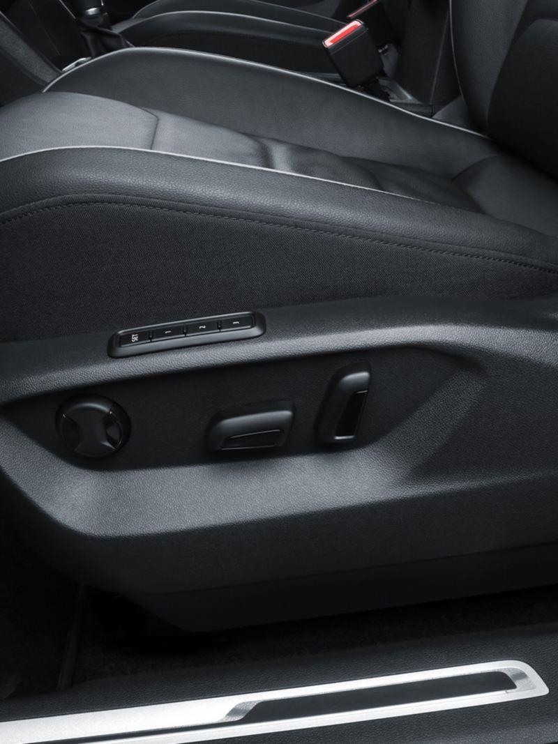 Control de electrónico de posición de los asientos de Tiguan 2021