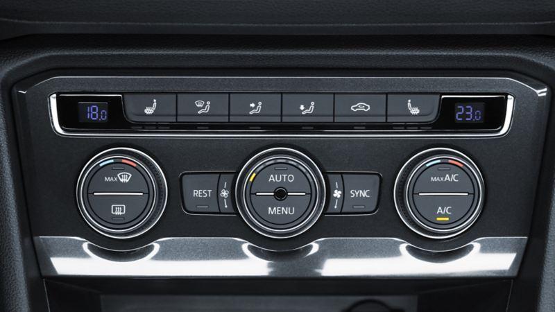 Control del aire acondicionado del SUV Tiguan 2021 de Volkswagen