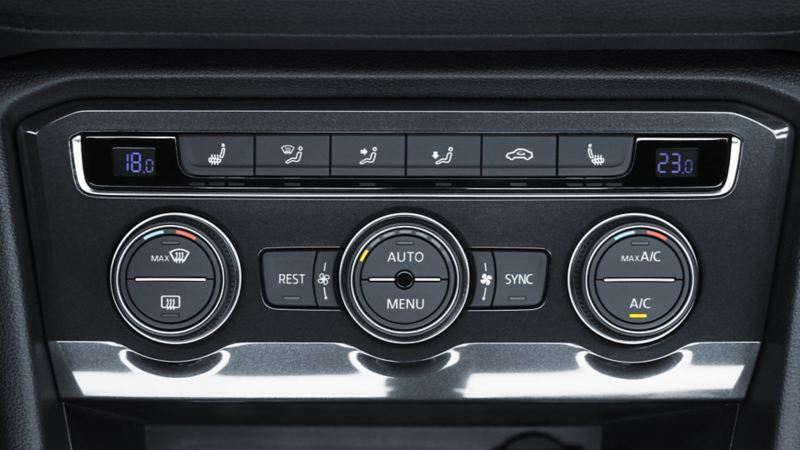 Control del aire acondicionado del SUV Tiguan 2020 de Volkswagen