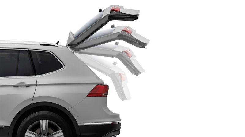 El SUV Tiguan 2020 de Volkswagen cuenta con apertura eléctrica de cajuela