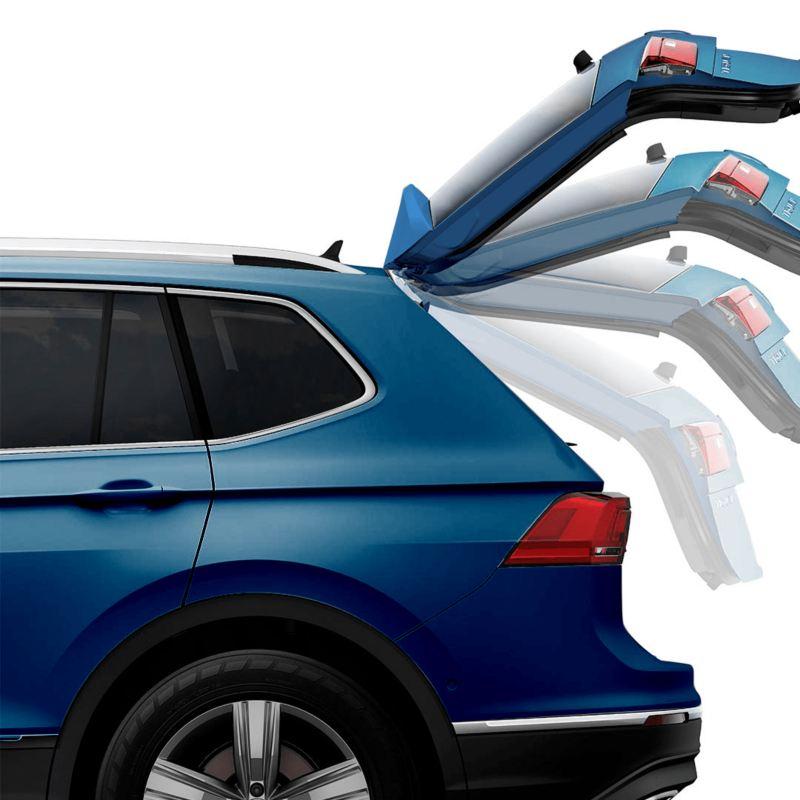 El SUV Tiguan 2021 de Volkswagen cuenta con apertura eléctrica de cajuela