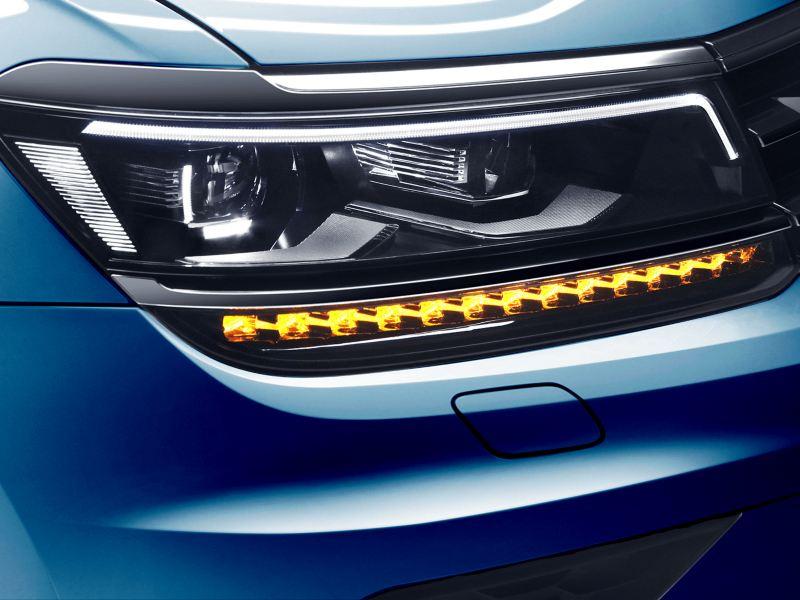 Faros LED del SUV Tiguan 2021 de Volkswagen, el mejor SUV para ciudad