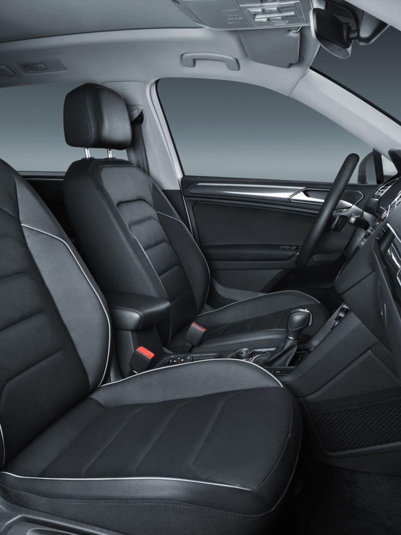 Vista de los interiores de Tiguan 2020, SUV de Volkswagen