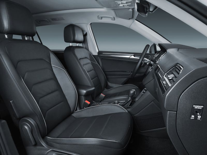 Vista de los interiores de Tiguan 2021, camioneta VW