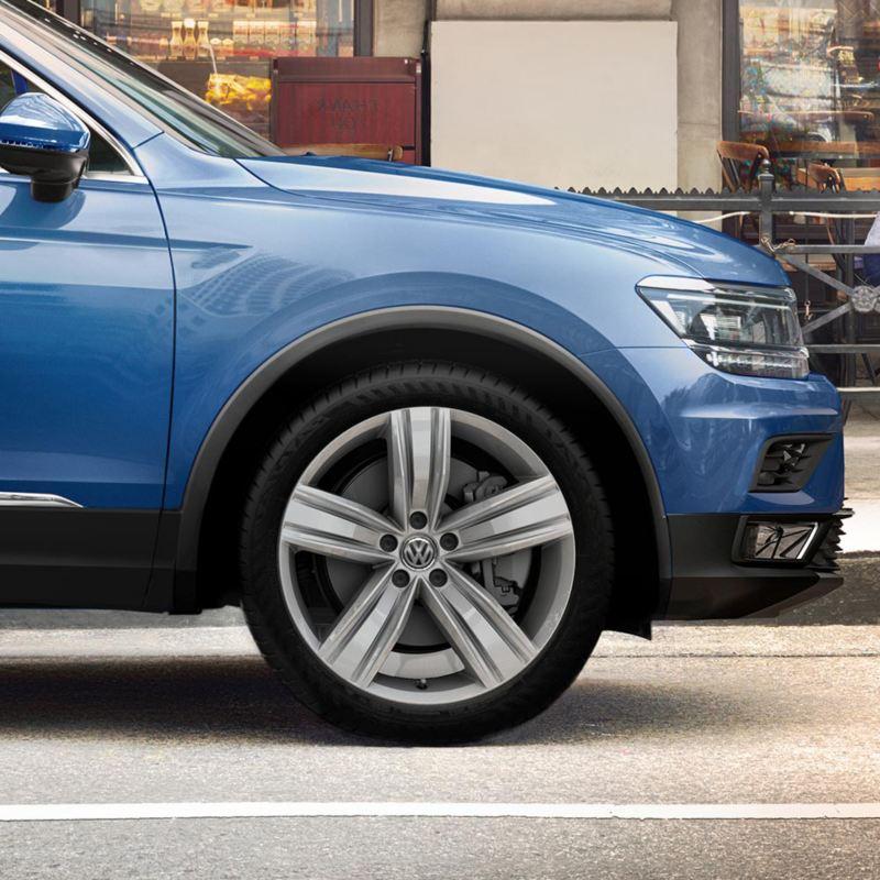Rines de aluminio de 19 pulgadas de Tiguan 2021 de Volkswagen