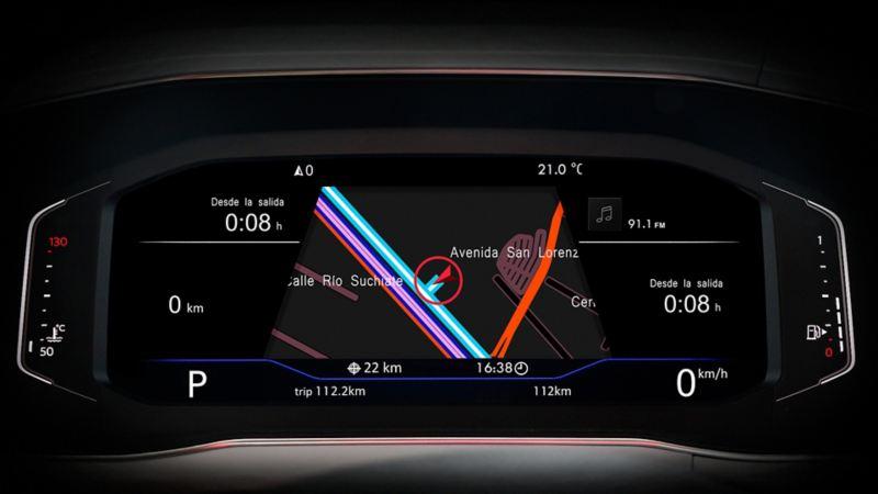 Sistema de navegación presente en Tiguan 2021 Volkswagen