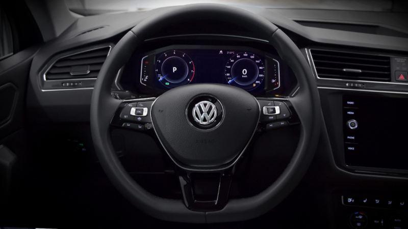 Volante multifunciones en leatherette del SUV Tiguan 2020 de Volkswagen