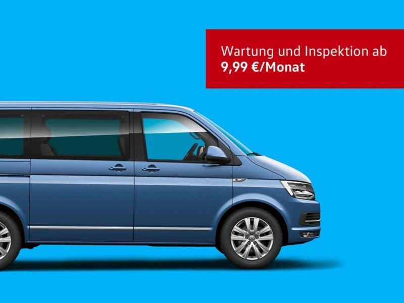 Das TradePort Wartung und Inspektions Angebot für den Multivan 6.1.