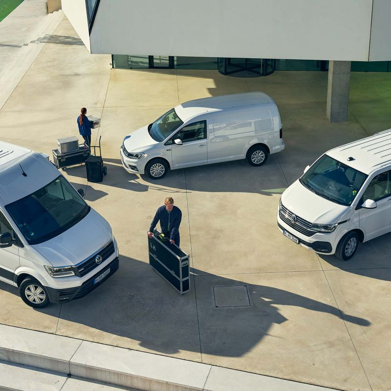 Vita VW Transporter, VW Caddy och VW Crafter
