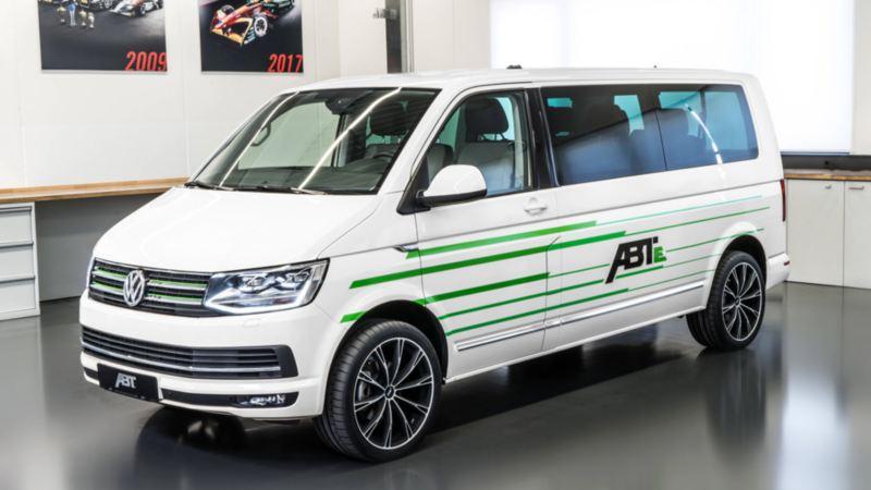 Volkswagen Transporter ombyggd till eldrift av ABT
