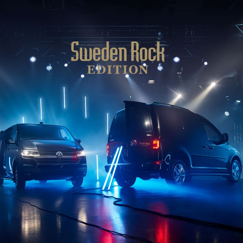 VW Transporter Skåp och Caddy Skåp Sweden Rock Edition