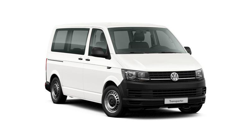 Samochód Volkswagen Transporter w wersji Kombi.