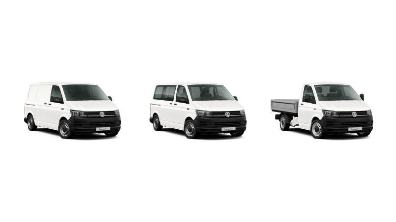 Volkswagen Transporter w wersji Furgon, Kombi oraz Skrzyniowy..