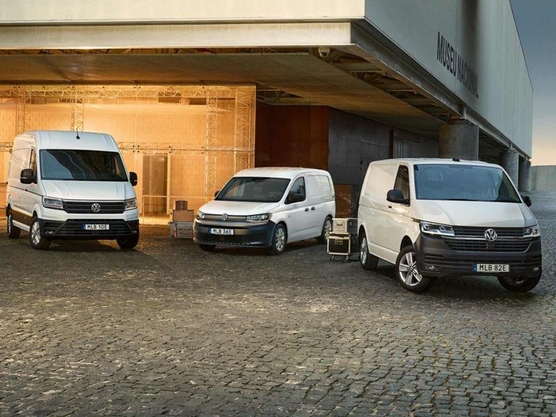 VW Caddy Cargo, Crafter, Transporter Proline Edition skåpbilar