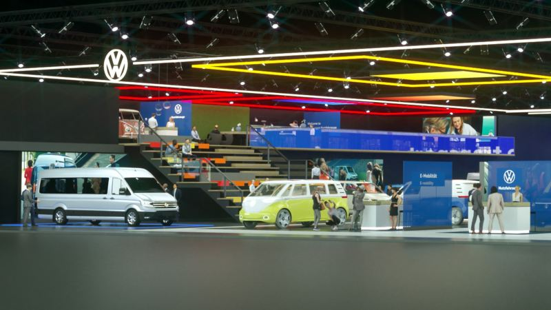 The virtual fair of Volkswagen Commercial Vehicles with the new ID. BUZZ Cargo.