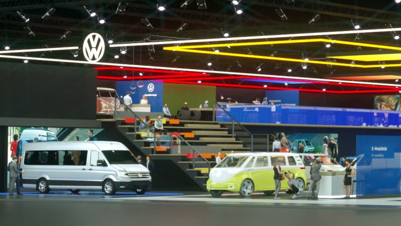 Die Virtuelle Automobilausstellung von Volkswagen Nutzfahrzeuge.