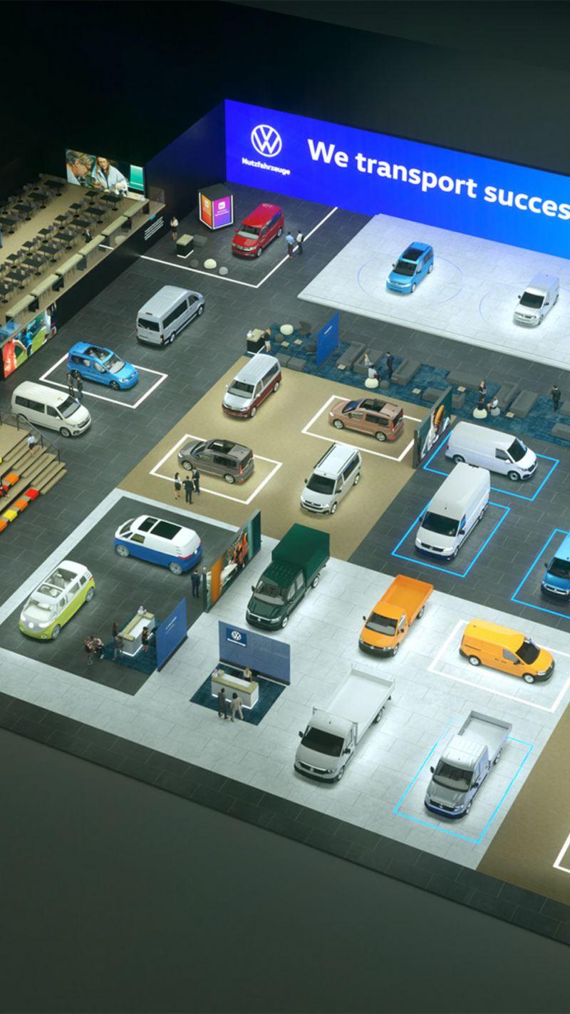 Die virtuelle Messe von Volkswagen Nutzfahrzeuge.