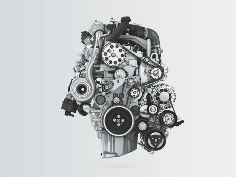 En TDI-motor i en Volkswagen transportbil