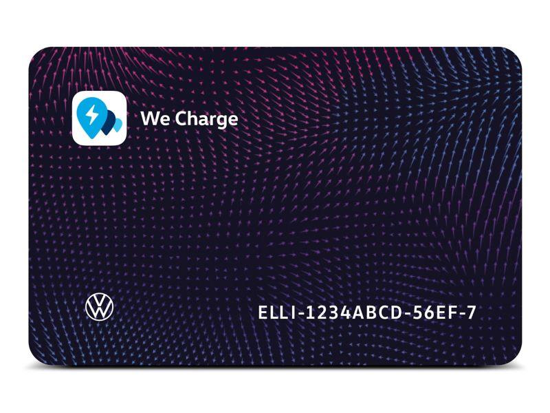 Die We Charge Ladekarte von Volkswagen Nutzfahrzeuge.