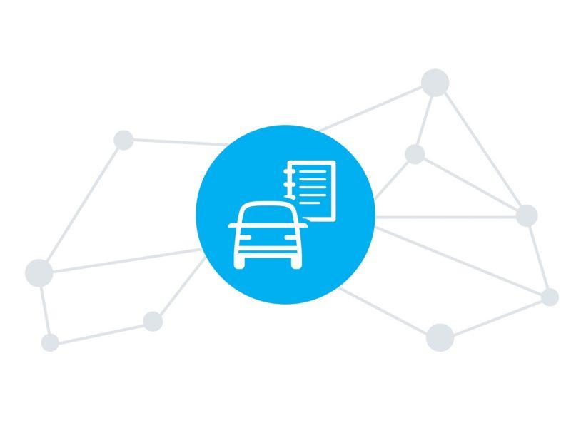 Das Digitale Fahrtenbuch der We Connect Fleet App.