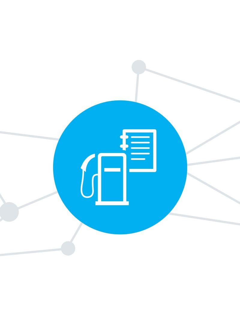 Das Digitale Kostenbuch der We Connect Fleet App.