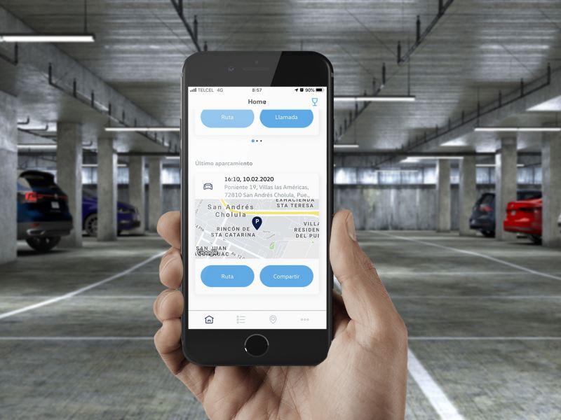 Encuentra tu Volkswagen estacionado con el GPS de We Connect Go y el tiempo del parquímetro