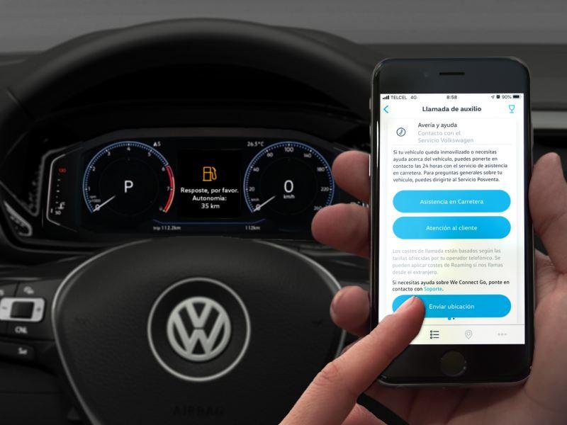 Obtén servicio de carretera al ponerte en contacto con We Connect Go