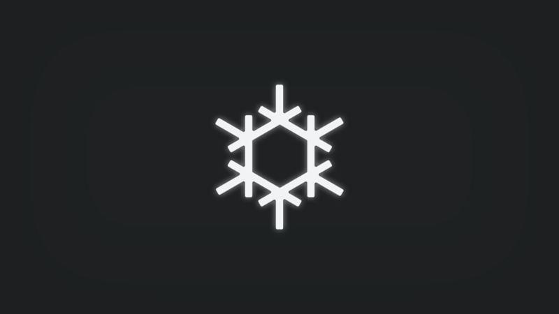 Kontrollleuchte mit Eiskristall leuchtet weiss