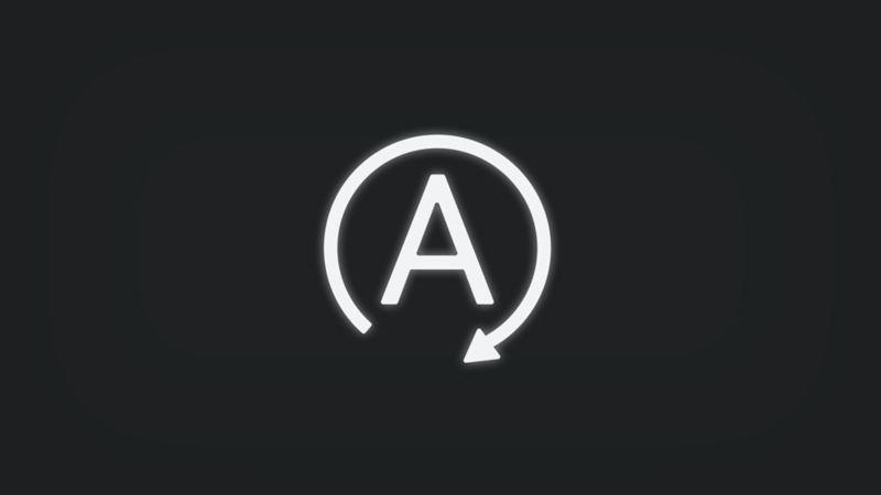 Kontrollleuchte mit A in Kreis mit Pfeil leuchtet weiss