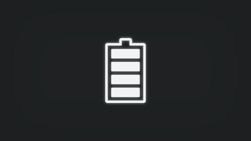 Kontrollleuchte mit Batterie leuchtet weiss