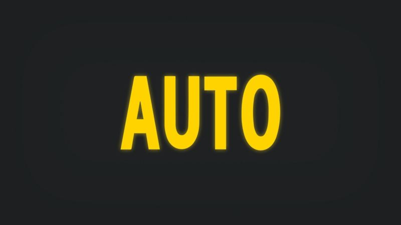 Kontrollleuchte mit Schriftzug AUTO leuchtet gelb