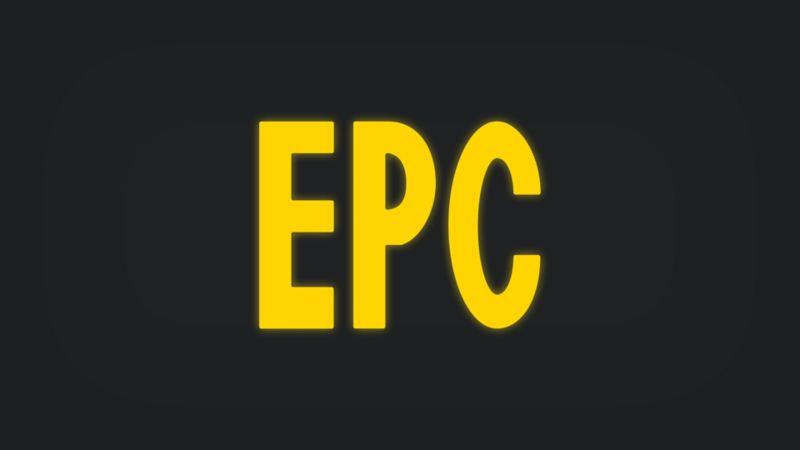 Kontrollleuchte mit Schriftzug EPC leuchtet gelb