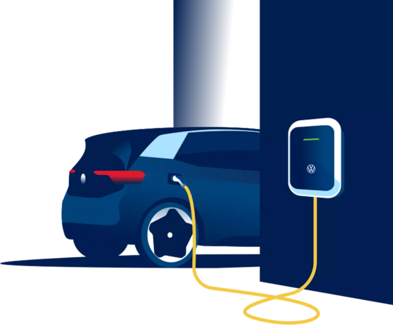 La VolkswagenID.3 recharge sur l'ID.  Charger.